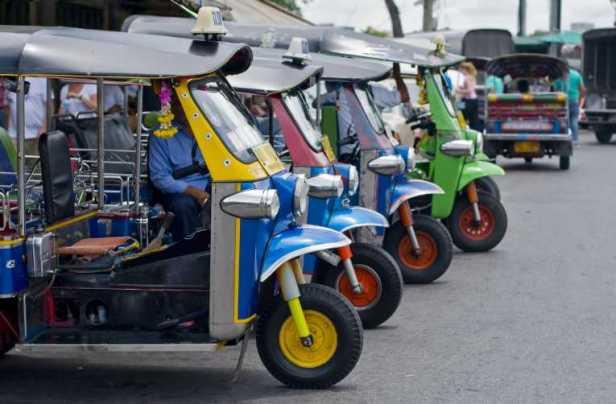 four rickshaws